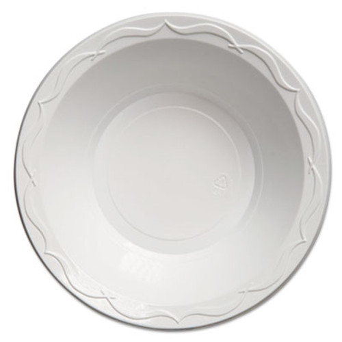 Genpak Aristocrat Plastic Bowls,  24oz., White, 125/Pack, 4 Packs/Carton (GNP 72400)