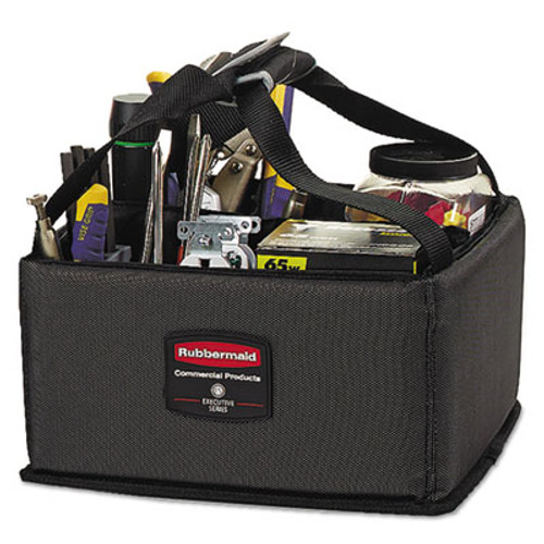 Rubbermaid Commercial Executive Quick Cart Caddy, Small, Dark Gray (RCP 1902459)