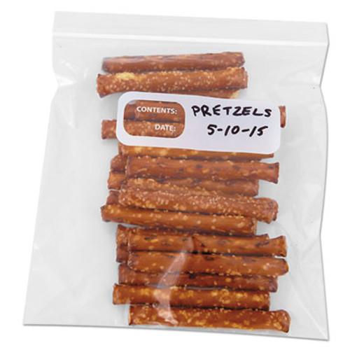 Boardwalk Reclosable Food Storage Bags, 1 qt, 1.75 mil, Clear, LDPE, 6 1/2 x 5.88, 500/Box (BWK QUARTBAG)