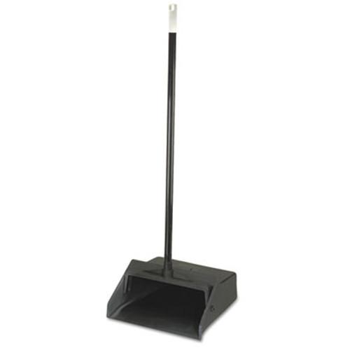 "Carlisle Duo-Pan Upright Lobby Pan, Plastic, 12"" Wide, 30"" Handle, Black (CFS361410)"