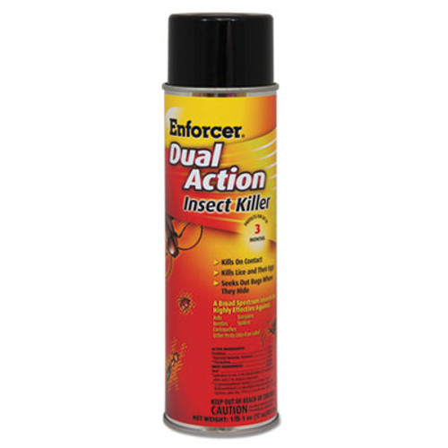 Enforcer Dual Action Insect Killer, For Flying/Crawling Insects, 17oz Aerosol,12/Carton (AMR 1047651CT)