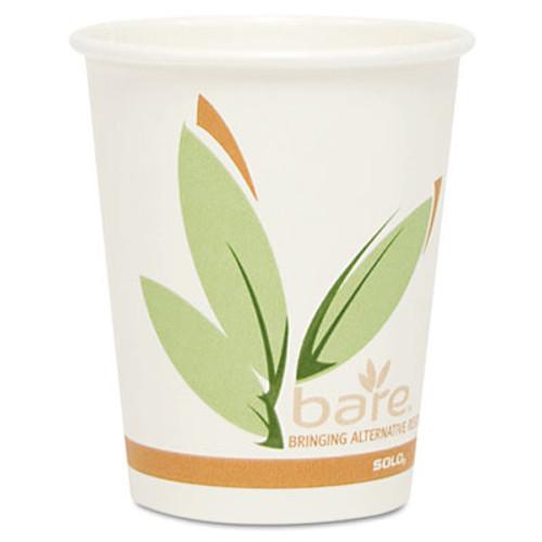SOLO Cup Company Bare Eco-Forward PCF Hot Drink Cups, Paper, 10 oz, 1,000/Carton (SCC 370RC)