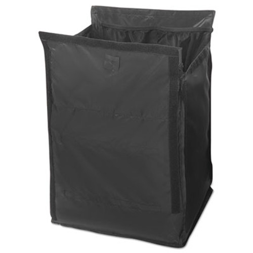 Rubbermaid Commercial Executive Quick Cart Liner, Large, 12 4/5 x 16 x 22 1/5, Black, 6/Carton (RCP 1902701)