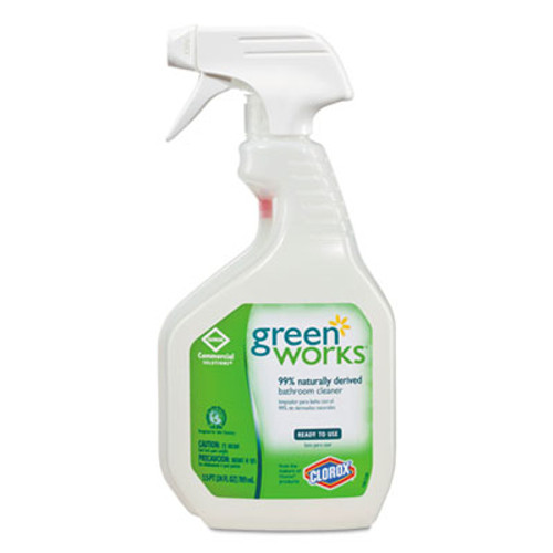 Green Works Bathroom Cleaner, 24oz Spray Bottle (CLO 00452CT)