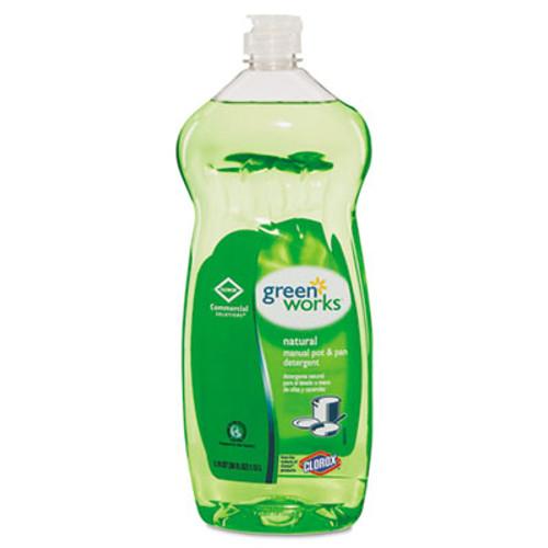 Green Works Manual Pot & Pan Dish Liquid, Original, 38oz Squeeze Bottle, 8/Carton (CLO 30381CT)