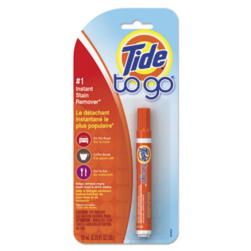 Tide To Go Stain Remover Pen, 0.338 oz Pen, 6/Carton (PGC01870CT)