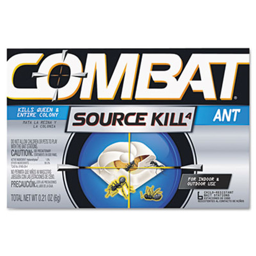 Combat Combat Ant Killing System, Child-Resistant, Kills Queen & Colony, 6/Box (DIA45901CT)