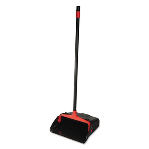 "O-Cedar Commercial Maxi-Plus Lobby Dust Pan with Rear Wheels, Black, 13""Wide, 30""Handle, 6/Carton (DVOCB962082)"