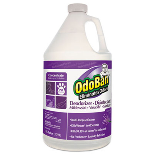 OdoBan Professional Series Deodorizer Disinfectant, 1gal Bottle, Lavender Scent, 4/CT (ODO911162G4)