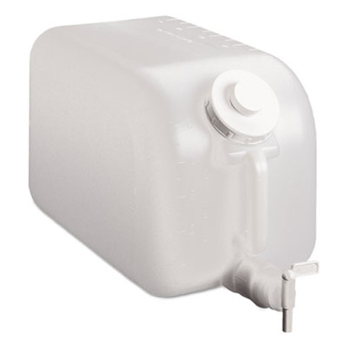 TOLCO Shur-Fill Dispenser, 5 gal, Clear, 8/Carton (TOC03007)