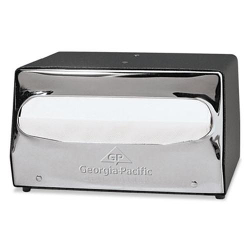 Georgia Pacific Professional Mini MorNap Mini-Fold Tabletop Napkin Dispenser, 7 1/2 x 6 x 4 3/8, Black/Chrome (GPC51202CT)