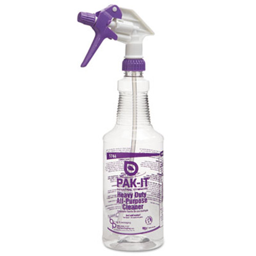 PAK-IT Color-Coded Trigger-Spray Bottle, 32 oz, Purple: Heavy-Duty All Purpose Cleaner (BIG574420004012)