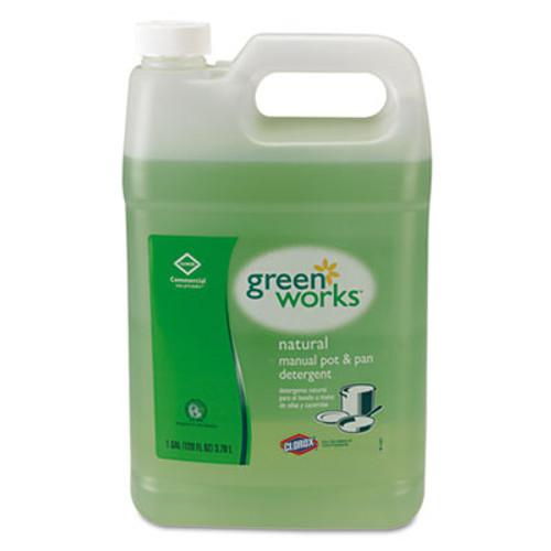 Green Works Manual Pot & Pan Dish Liquid, Original, 1gal Bottle (CLO30388CT)