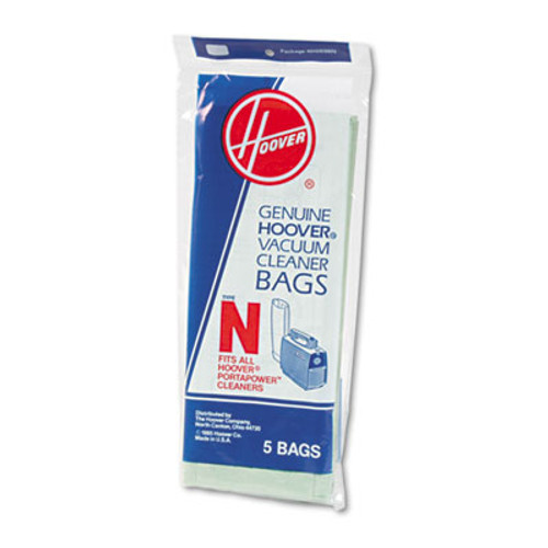Hoover Commercial Commercial Portapower Vacuum Cleaner Bags, 5/Pack (HVR4010038N)