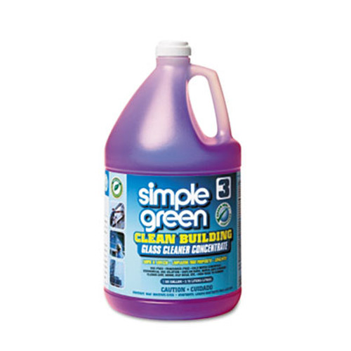 Simple Green Clean Building Glass Cleaner Concentrate, Unscented, 1gal Bottle (SMP11301)