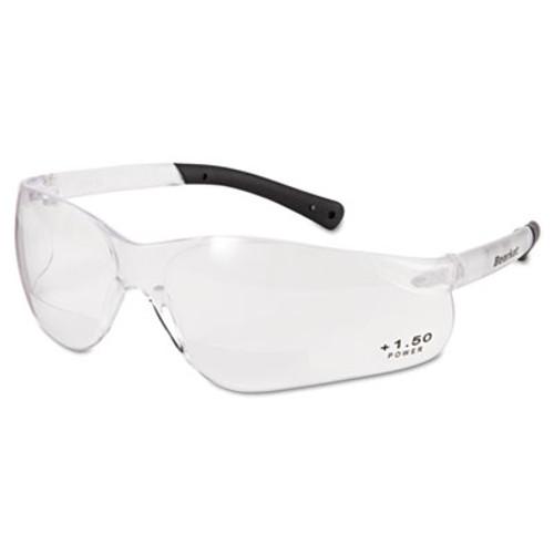 Crews BearKat Magnifier Safety Glasses, Clear Frame, Clear Lens (CRWBKH15)