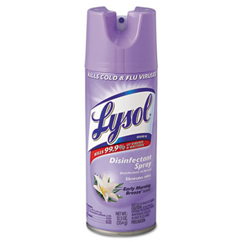 LYSOL Brand Disinfectant Spray, Early Morning Breeze, 12.5oz Aerosol, 12/Carton (RAC80833)