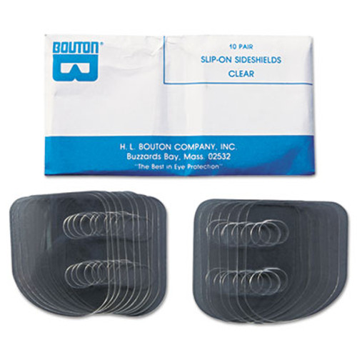 Bouton Slip-On Sideshields, Plastic, Clear, 10 Pairs/Box (BOU99700)