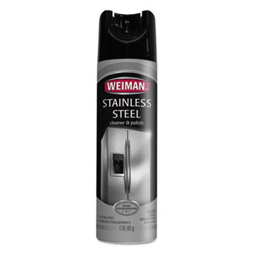 WEIMAN Stainless Steel Cleaner and Polish, 17 oz Aerosol, 6/Carton (WMN49CT)
