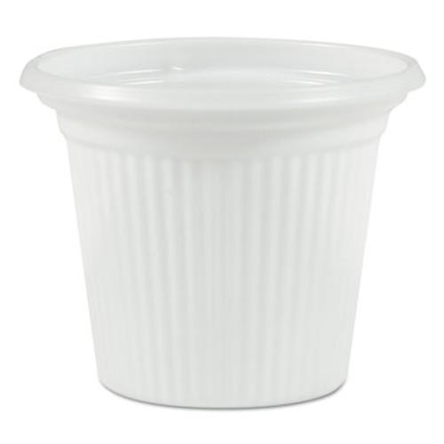 Plastifar Plastic Souffle Cups, 3/4oz, Translucent, 250/Sleeve, 20 Sleeves/Carton (PST34BW)