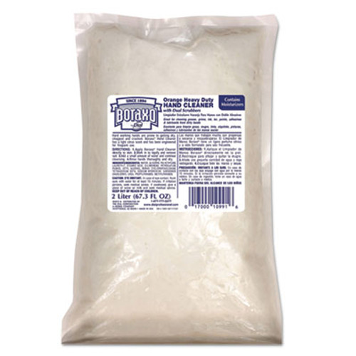 Boraxo Orange Heavy Duty Hand Cleaner, 2 Liter Refill Bag, 4/CT (DIA10991CT)