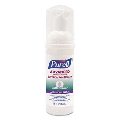 PURELL Advanced Hand Sanitizer Ultra Nourishing Foam, 1.5 oz, Fragrance Free, 24/Ct (GOJ569924CT)