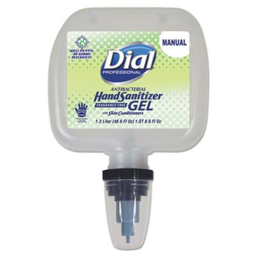 Dial Professional Antibacterial Gel Hand Sanitizer, 1.2 L Refill, Fragrance-Free, 3/Carton (DIA13425CT)