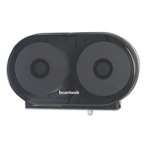 Boardwalk Jumbo Twin Toilet Tissue Dispenser, Smoke Black, 5.938 x 22.437 x 13 7/8 (BWKJT210SBBW)