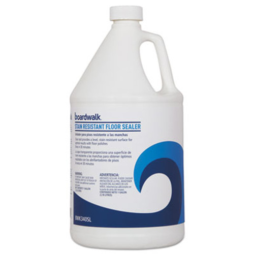 Boardwalk Stain Resistant Floor Sealer, 1 gal Bottle, 4/Carton (BWK3404SL)