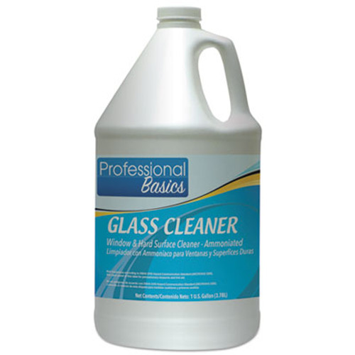 Theochem Laboratories Professional Basics Glass Cleaner, 1 gal Bottle, 4/Carton (TOL505922)