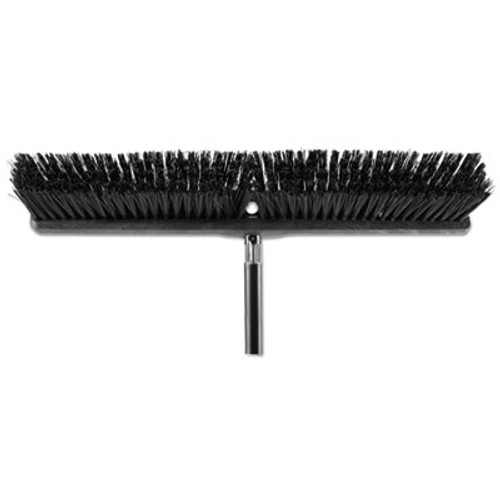 "Rubbermaid Commercial Heavy Duty Push Broom Rough Surface, 24"" x 3"", Black, Polypropylene, 12/Carton (RCP1861212CT)"