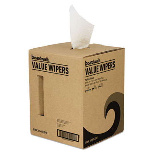 Boardwalk DRC Wipers, White, 10 x 12, 200/Box (BWKV040CGW)