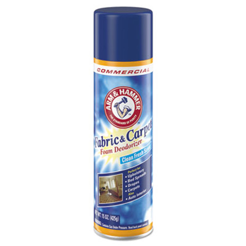 Arm & Hammer Fabric and Carpet Foam Deodorizer, Fresh Scent, 15 oz Aerosol, 8/Carton (CDC3320000514CT)
