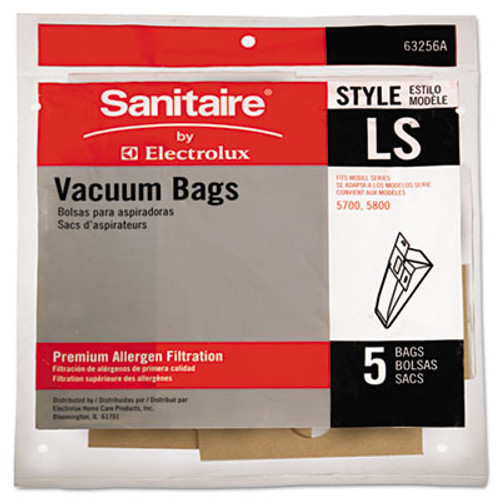 Eureka Commercial Upright Vacuum Cleaner Replacement Bags, Style LS, 5/Pack, 10 PK/CT (EUR63256A10CT)