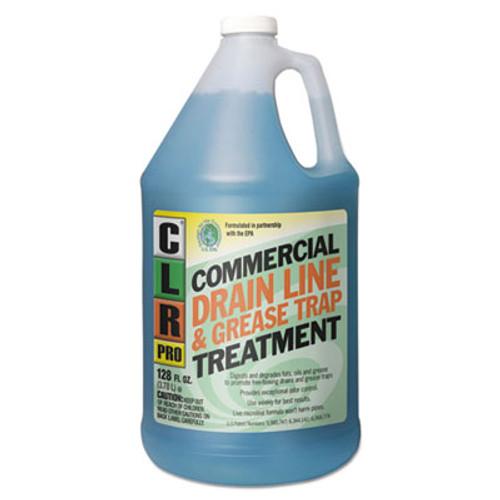 CLR PRO Commercial Drain Line & Grease Trap Treatment, 1 gal Bottle (JELGRT4PRO)