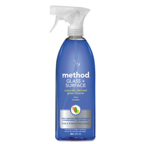 Method Glass and Surface Cleaner, Mint, 28 oz Bottle, 8/Carton (MTH00003CT)