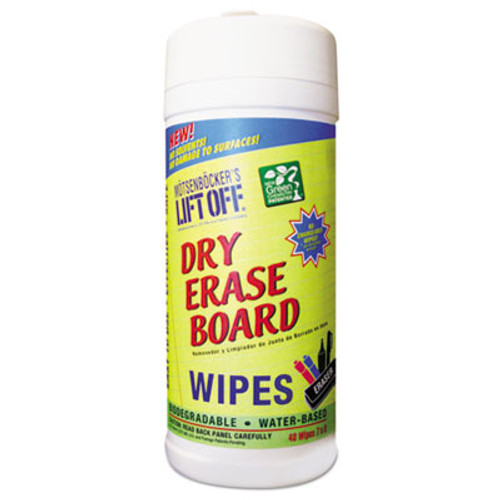 Motsenbocker's Lift-Off Dry Erase Cleaner Wipes, Cloth, 7 x 12, 30/Canister, 6 Canisters/Carton (MOT42703CT)