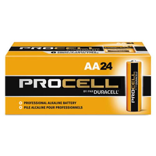 Duracell Procell Alkaline Batteries, AA, 24/Box (DURPC1500BKD)
