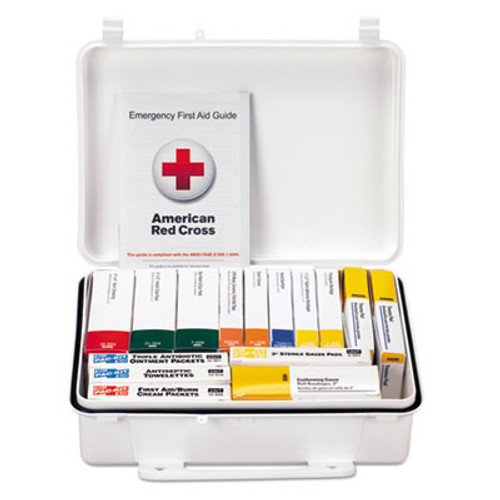 First Aid Only ANSI Class A Weatherproof First Aid Kit for 25 People, 84 Pieces (FAO90569)