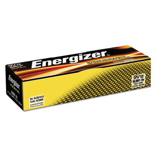 Energizer Industrial Alkaline Batteries, 9V, 12/Box (EVEEN22)