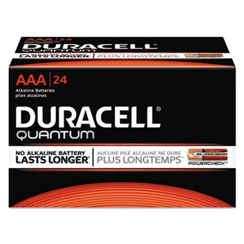 Duracell Quantum Alkaline Batteries with Duralock Power Preserve Technology, AAA, 24/Box (DURQU2400BKD)