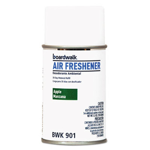 Boardwalk Metered Air Freshener Refill, Apple Harvest, 5.3 oz Aerosol, 12/Carton (BWK901)
