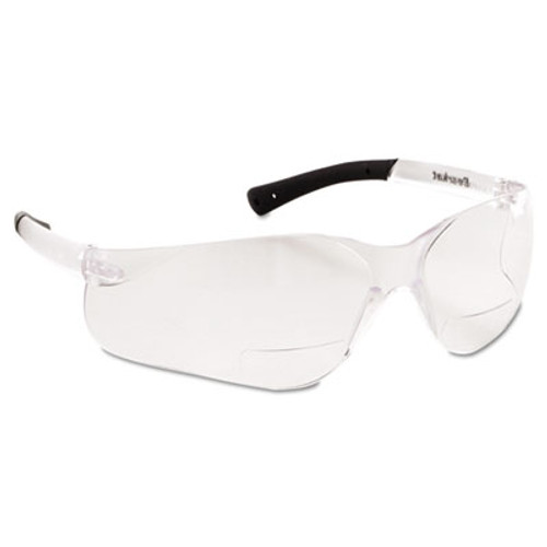 Crews Bearkat Magnifier Protective Eyewear, Clear, 2.5 Diopter (CRWBKH25)