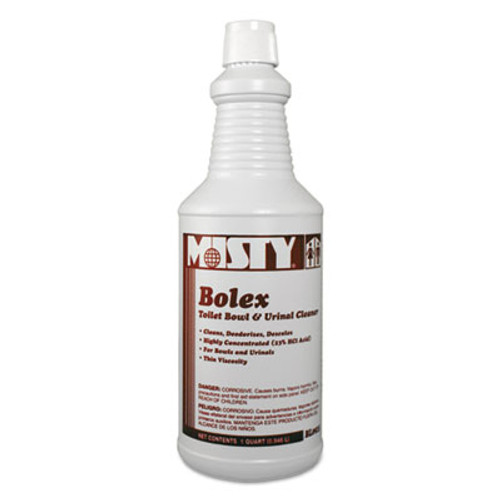 Misty Bolex 23 Percent Hydrochloric Acid Bowl Cleaner, Wintergreen, 32oz, 12/Carton (AMR1038799)