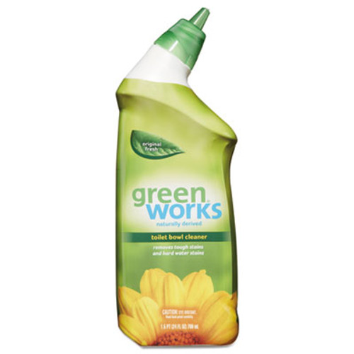 Green Works Toilet Bowl Cleaner, Original Fresh, 24 oz Squeeze Bottle, 9/Carton (CLO31597)