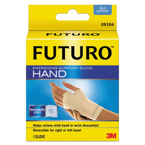 "FUTURO Energizing Support Glove, Small/Medium, Palm Size 6 1/2"" - 8 1/2"", Tan (MMM09183EN)"