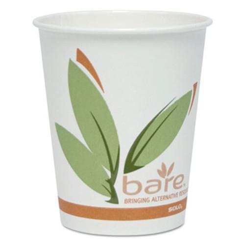SOLO Cup Company Bare Eco-Forward PCF Hot Cups, Paper, Green/White, 10 oz, 300/Carton (SCCOF10RCJ8484)