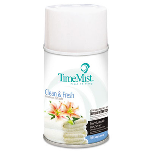 TimeMist Metered Fragrance Dispenser Refills, Clean N Fresh, 6.6oz Aerosol, 12/Carton (TMS1042771)