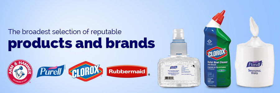 Broadest selection of reputable products and brands