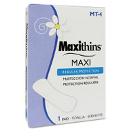 HOSPECO Maxithins Thin, Full Protection Pads, 250 Individually Boxed Napkins/Carton (HOS MT-4)